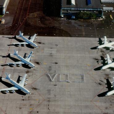 Six Mercs at VQ-3 Barbers Point Hangar 1