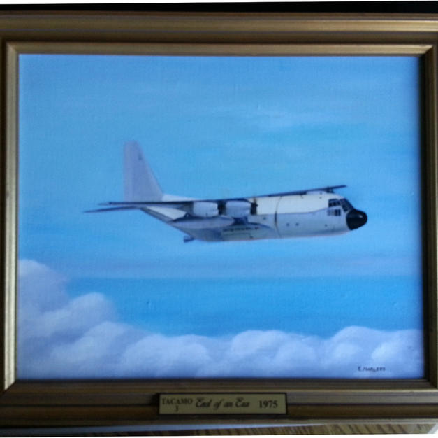 EC-130 Last of TACAMO III Oil Painting b