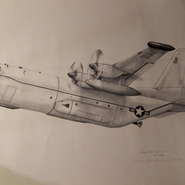 New EC-130Q B&W Drawing from Bill Crouch