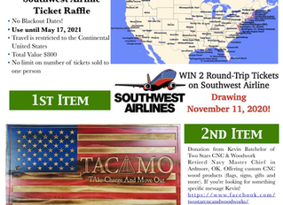 November 11, 2020 Raffle - 2 Raffle Items Support TACAMO Heritage Center Displays