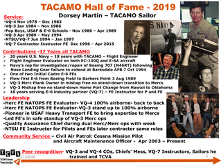 2019 TACAMO Hall of Fame Inductee - Dorsey Martin