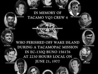 VQ-3 Holds TACAMOPAC Crew 4  Remembrance Ceremony