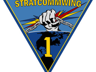 NEW STRATCOMMWING-1 Insignia