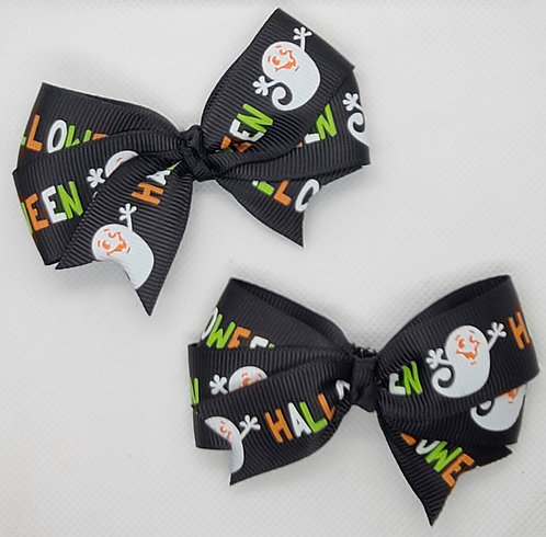 Black Halloween Bow