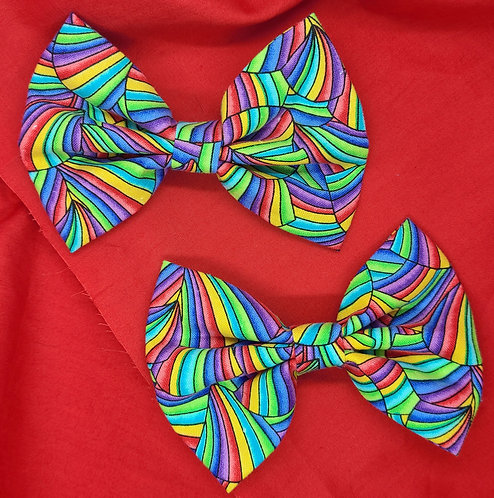 Over the Rainbow Pigtail Set