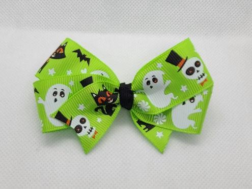 Green Halloween Bow