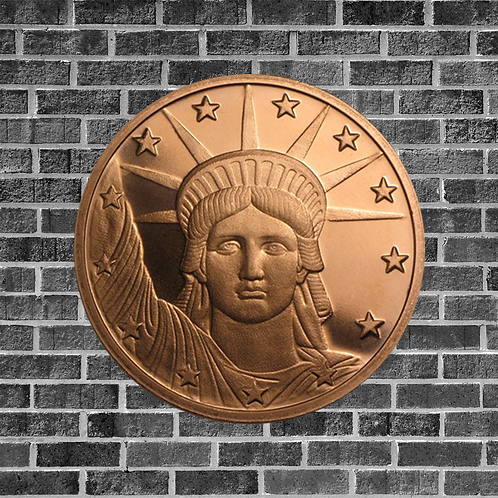 1 Ounce Copper Liberty Coin