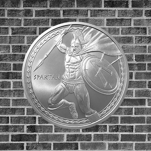 1 Ounce Silver Spartan Warrior Coin