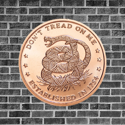 Don't Tread On Me 1 Ounce Copper Coin