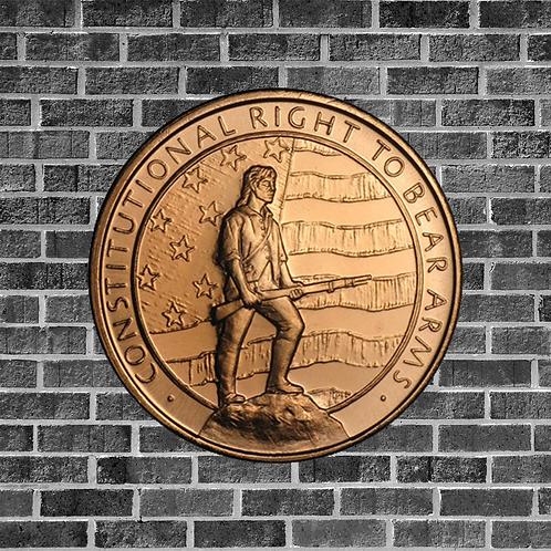 Second Amendment 1 Ounce Copper Coin