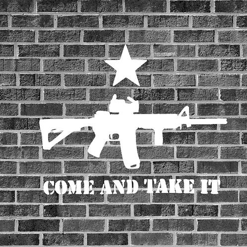 Come And Take It AR-15 Sticker