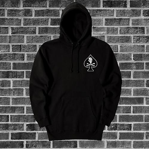 Black Spade Skull Hoodie