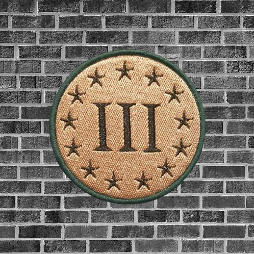 Threepercenter Patch, Tan and Green