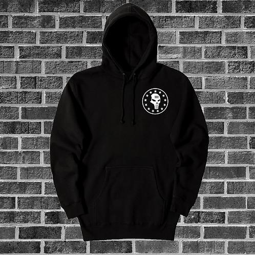 Black Hoodie with Skull Logo