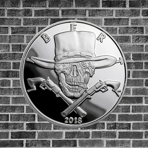 1 Ounce Silver Proof Gunslinger Coin