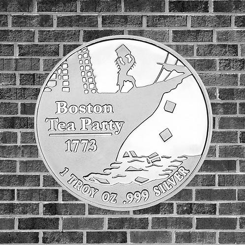 1 Ounce Silver Boston Tea Party Coin