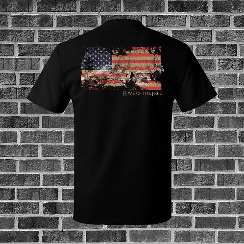 Distressed Flag, We The People T-Shirt
