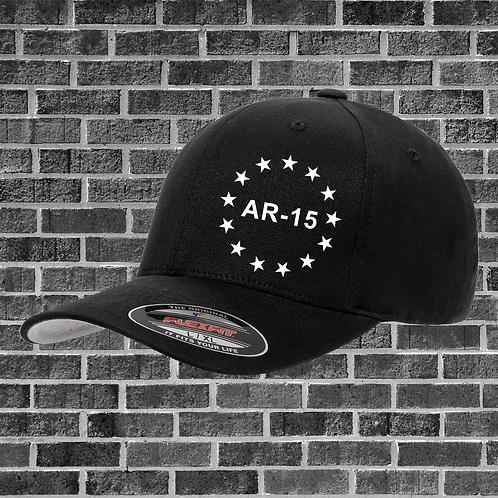 AR-15 Text Flextfit Hat