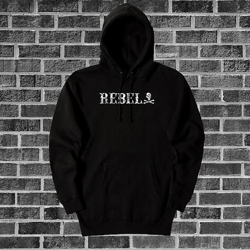 Black Distressed Rebel Hoodie