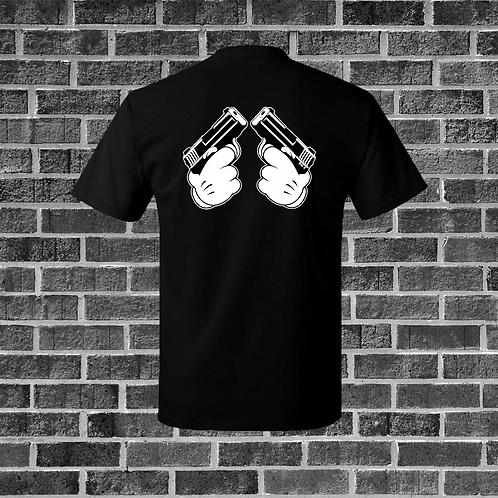 Cartoon Hands With Guns T-Shirt
