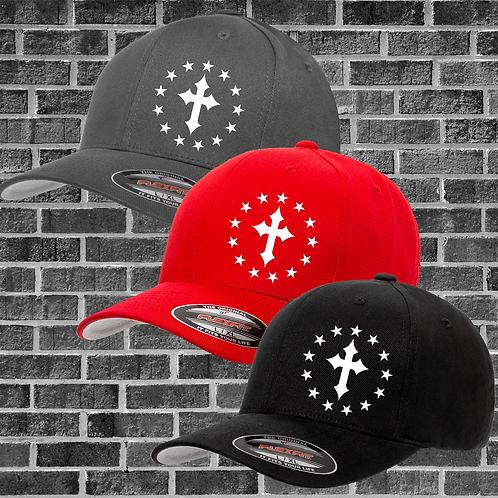 Cross and Stars Flexfit Hat