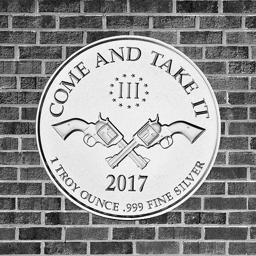 1 Ounce Silver Come and Take It Threeper Coin