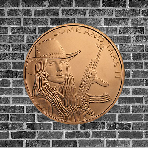 1 Ounce Copper Come and Take It Coin
