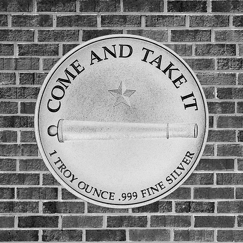 1 Ounce Silver Come And Take It Coin