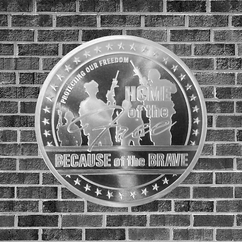 1 Ounce Silver Home Of The Brave Coin
