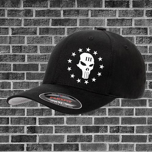 Threepercenter Skull Flexfit Hat