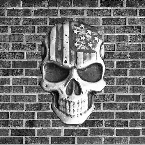 2 Ounce Patriotic Silver Skull