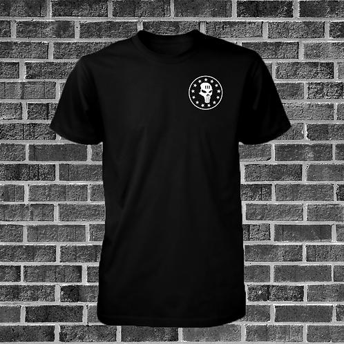 Black T-Shirt with Skull Design