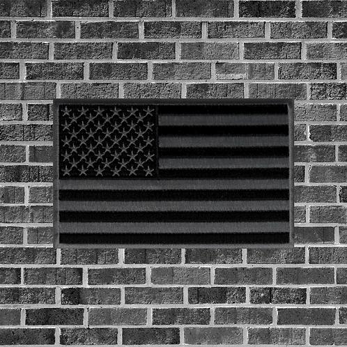 Black & Grey American Flag Patch
