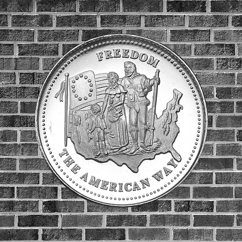1 Ounce Silver Freedom the American Way Coin