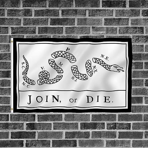 White Join or Die 3ft x 5ft Flag