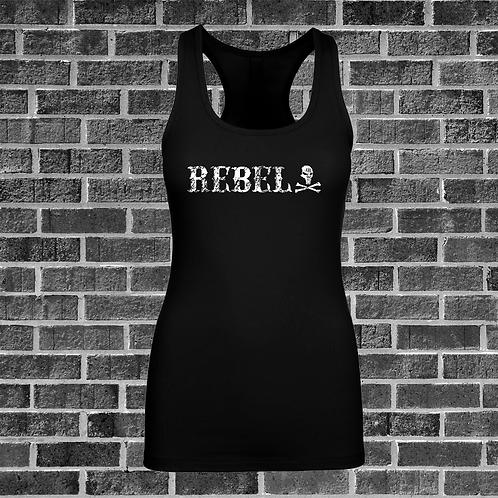 Womens Black Rebel 2 Racer Back Tank Top