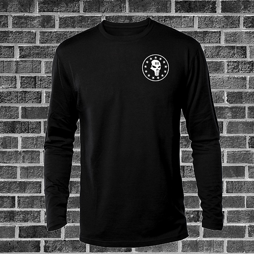 Black Long Sleeve Skull Shirt