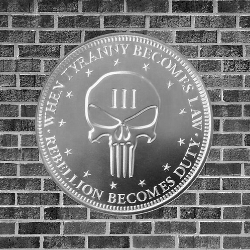 1 Ounce Silver Three Percent Punisher Coin