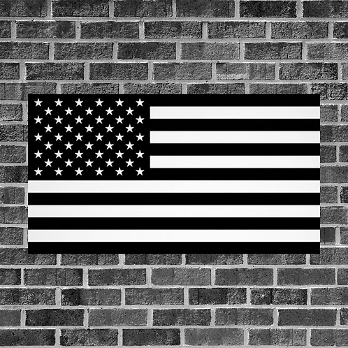 Black and White American Flag 3ft x 5ft