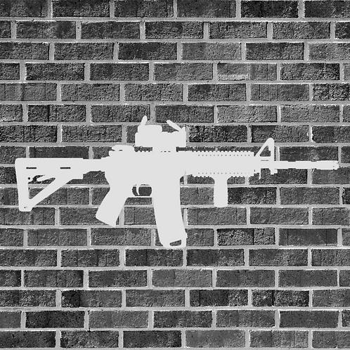 AR-15 with Scope Sticker