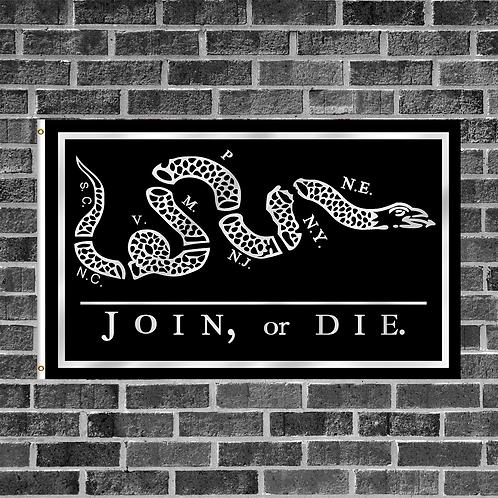Black Join or Die 3ft x 5ft Flag