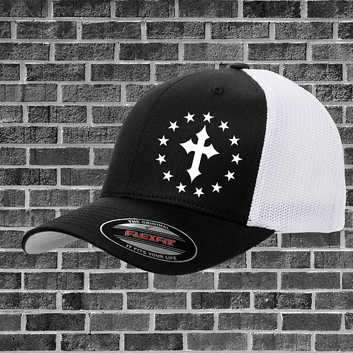 Cross and Stars Flexfit Hat One Size Fits All (OSFA)