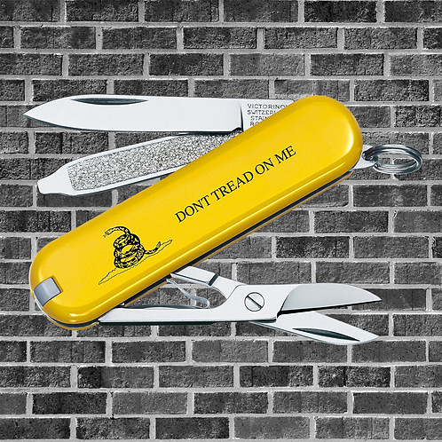 DTOM Swiss Army Classic SD Pocket Knife, Gadsden Flag