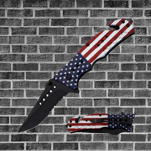 American Flag Folding Knife