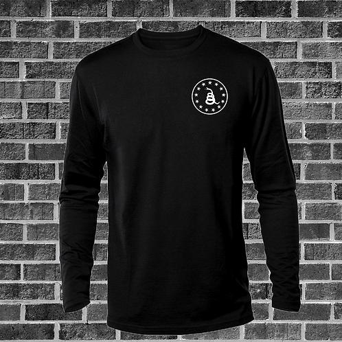 Black Long Sleeve Shirt with Gadsden Logo