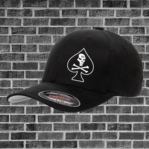 Spade Skull and Crossbones Flexfit Hat