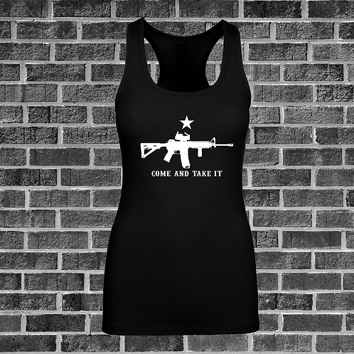 Come And Take It Racer Back Tank Top