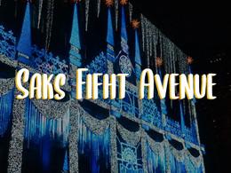 Espectáculo De Navidad En Saks Fifth Avenue NY