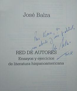 Firma de José Balza