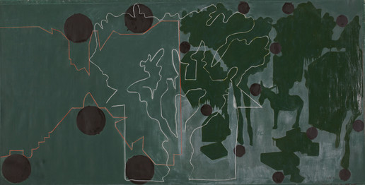 Getter GREEN LANDSCAPES WITH BLACK CIRCLES